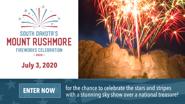 Enter now for the chance to celebrate the stars and stripes with a stunning sky show over a national treasure!